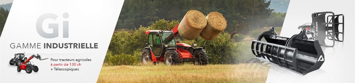 Outils de chargeurs pour tracteurs agricoles à partir de 130 ch et pour télescopiques
