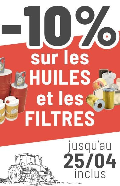 Promo agram -10% sur les huiles et les filtres