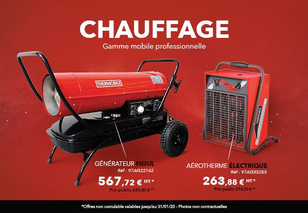 Offre chauffages mobiles gamme professionnelle