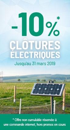 -10% ur les clôtures électriques
