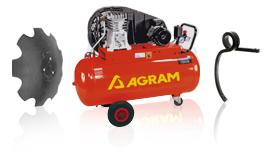 Exemples de pièces Agram : compresseur, disque, dent...